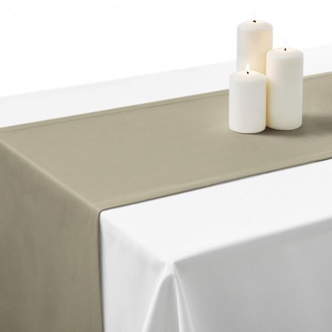 Falbana do stołów popiel ciemny Standard Gładki