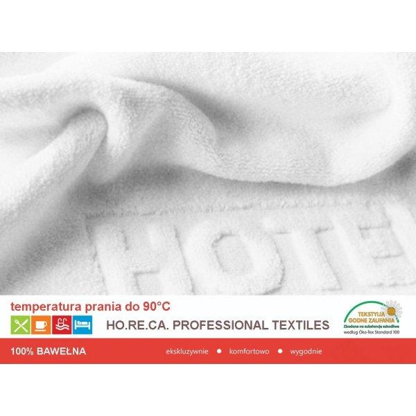 RĘCZNIK HOTELOWY LOGO HOTEL 70X140 500gsm BIAŁY