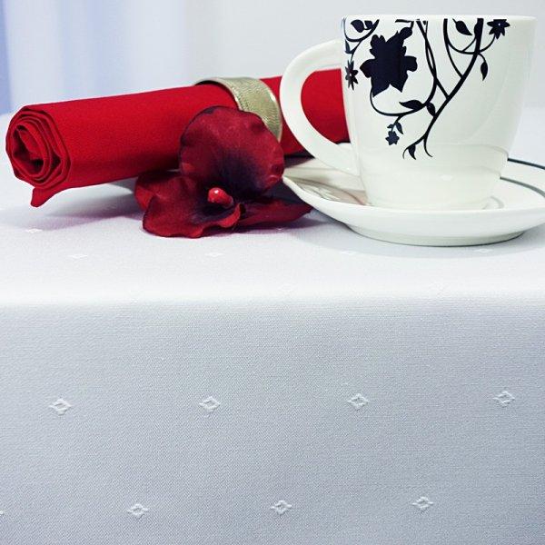 Obrus plamoodporny Cristal Day biały