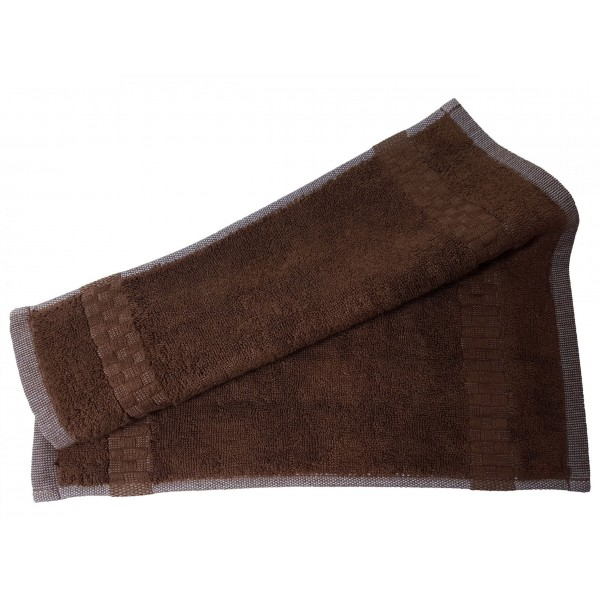 Ręcznik frotte dla gościa 208-29 31x31 myjka brąz