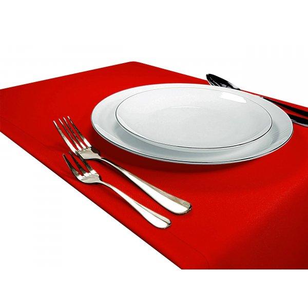 Bieżnik na stół GŁADKI STANDARD 404-45 czerwony mocny
