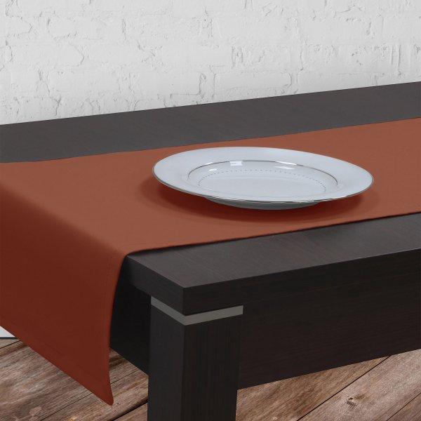 Bieżnik na stół plamoodporny GOLD 401-07 terakota