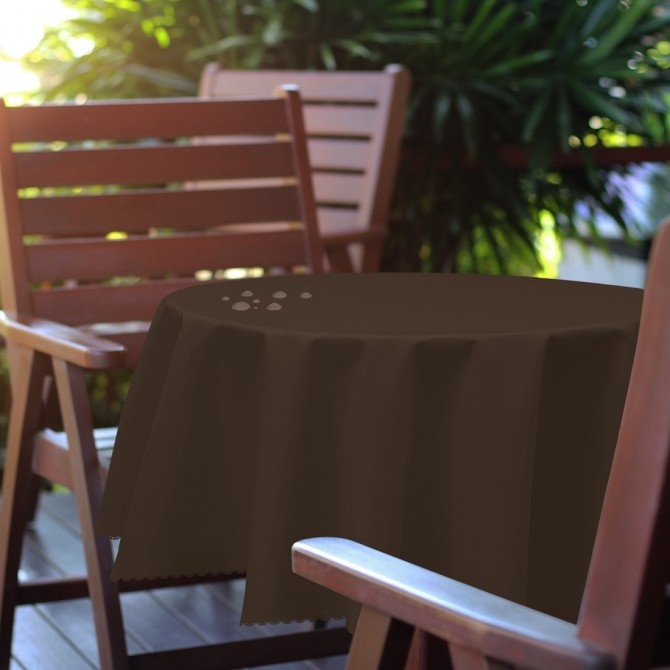 Bieżnik na stół plamoodporny PREMIUM 414-31 popiel