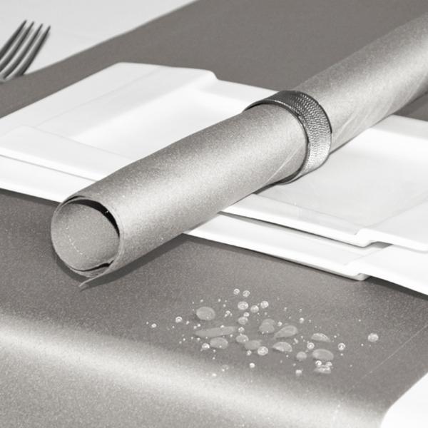 Bieżnik na stół plamoodporny ELEGANCE 400-32 srebrny