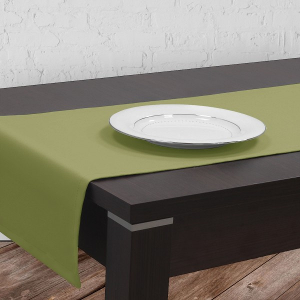 Bieżnik na stół plamoodporny GOLD 401-22 oliwka ciemna