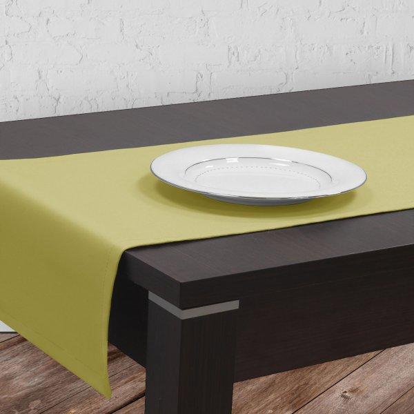 Bieżnik na stół plamoodporny GOLD 401-23 oliwka jasna