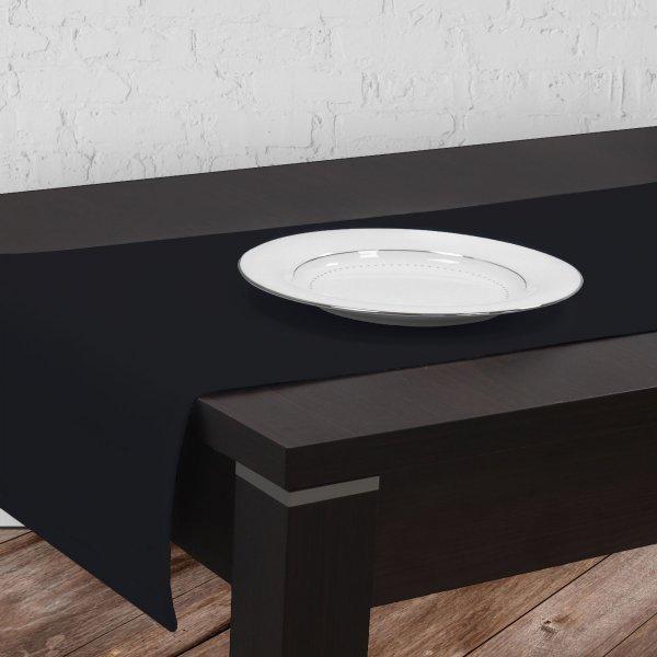 Bieżnik na stół plamoodporny GOLD 401-34 czarny