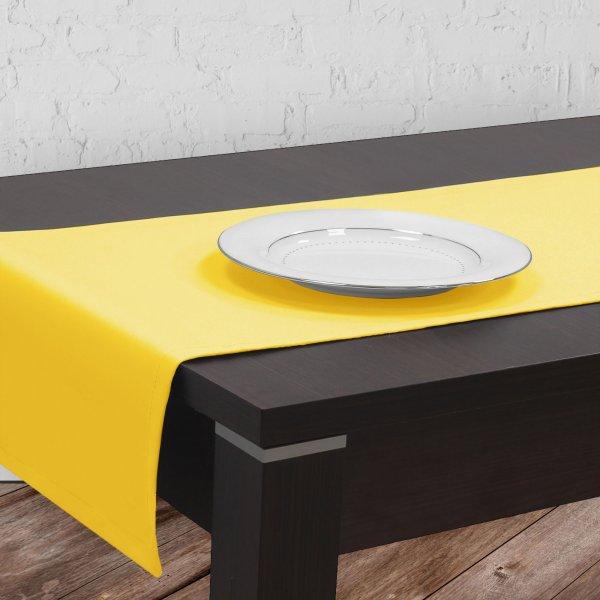 Bieżnik na stół plamoodporny GOLD 401-44 żółty pastel