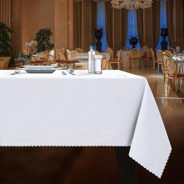 Obrus plamoodporny gładki WEDDING & GASTRO PUB biały