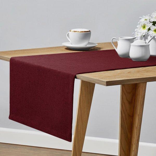 Bieżnik na stół VERONA 177-150 cranberry