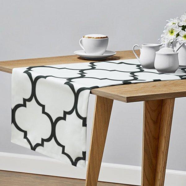 Bieżnik na stół BIG MAROCO 159-01-94 biały grafit