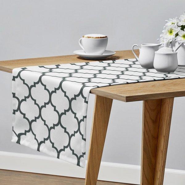 Bieżnik na stół MAROCO 156-01-94 biały grafit