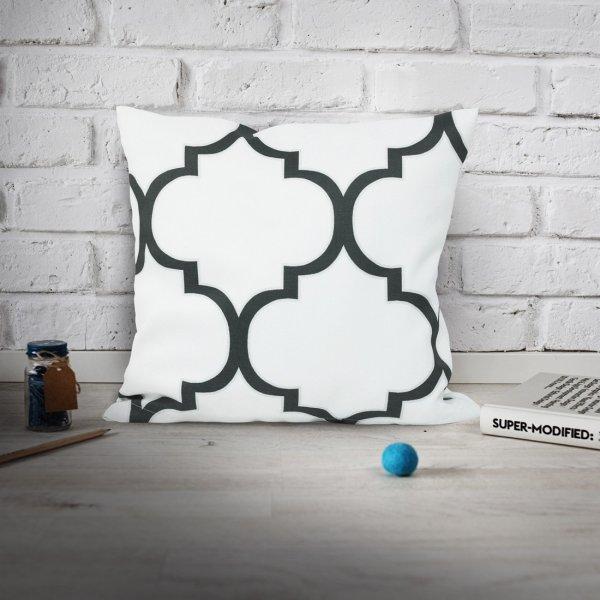 Poszewka dekoracyjna BIG MAROCO 159-01-94 biały grafit