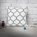 Poszewka dekoracyjna MAROCO 156-01-94 biały grafit
