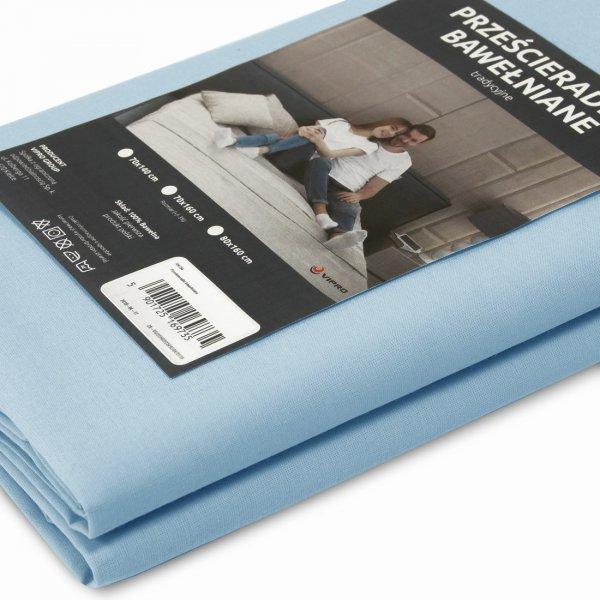 Prześcieradło bawełniane LUKSUSOWE TRADYCYJNE 307-14 błękitne