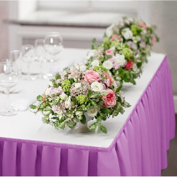 Falbana do stołów GŁADKI STANDARD 404-72 lila róż