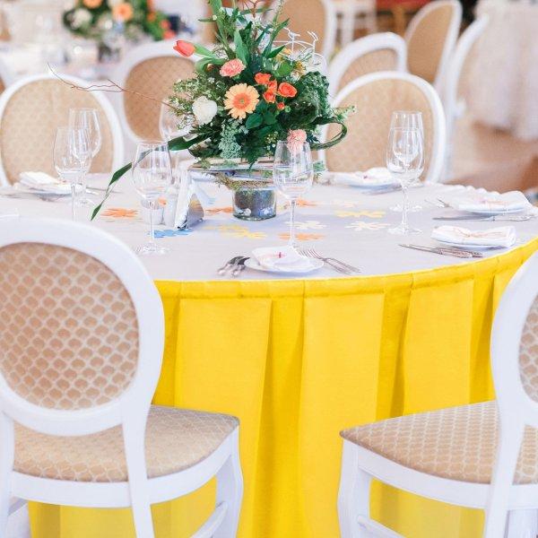 Falbana do stołów GŁADKI GOLD 401-05 żółty
