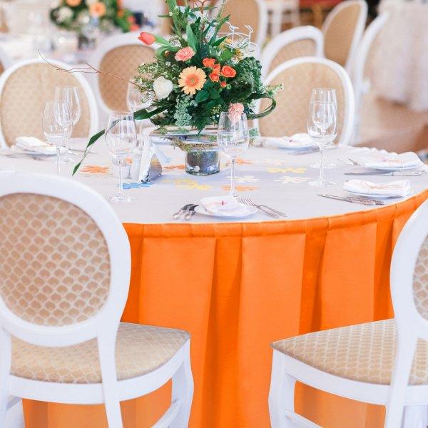 Falbana do stołów GŁADKI GOLD 401-06 pomarańcz