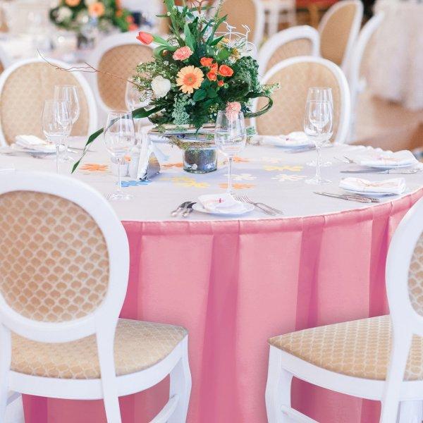 Falbana do stołów GŁADKI GOLD 401-10 róż blady
