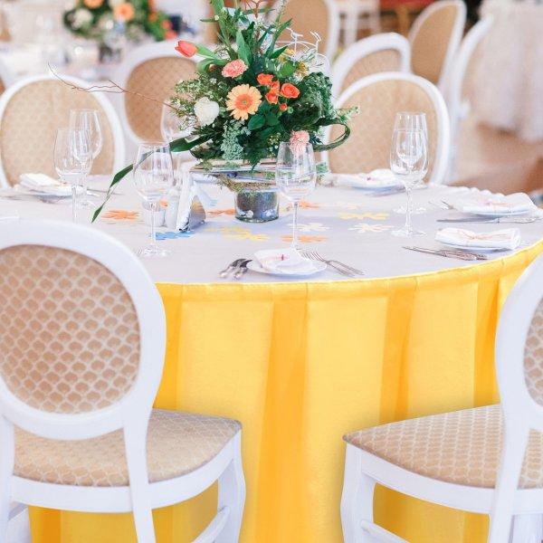 Falbana do stołów GŁADKI GOLD 401-44 żółty pastel