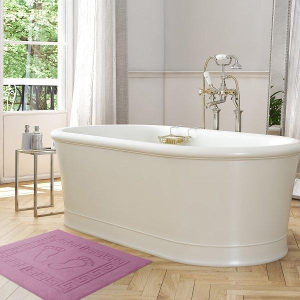 Dywanik łazienkowy ANTYPOŚLIZGOWY 50x70 210-10 róż blady