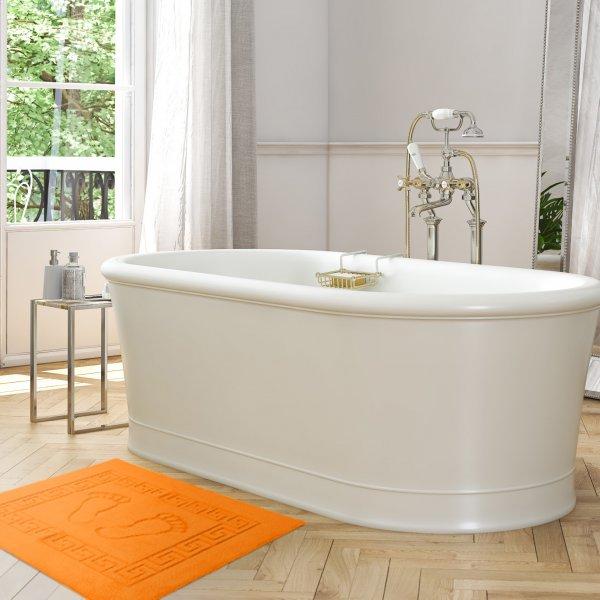 Dywanik łazienkowy ANTYPOŚLIZGOWY 50x70 210-06 pomarańcz