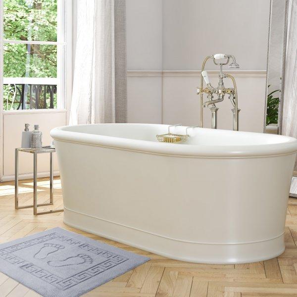 Dywanik łazienkowy ANTYPOŚLIZGOWY 50x70 210-31 szary jasny
