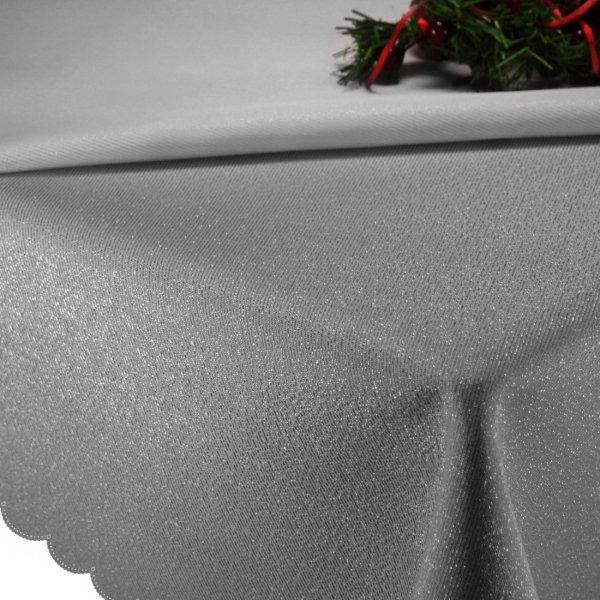 Obrus Świąteczny gładki CHRISTMAS SILVER 458-32 srebrny