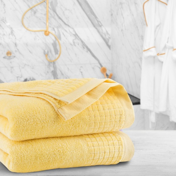 Ręcznik frotte PAOLO 70x140 323-44 żółty pastel