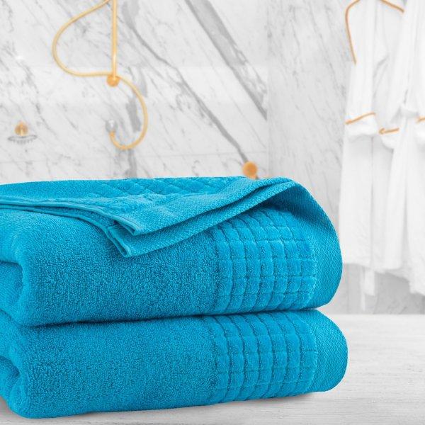Ręcznik frotte PAOLO 70x140 323-85 lazurow turkus