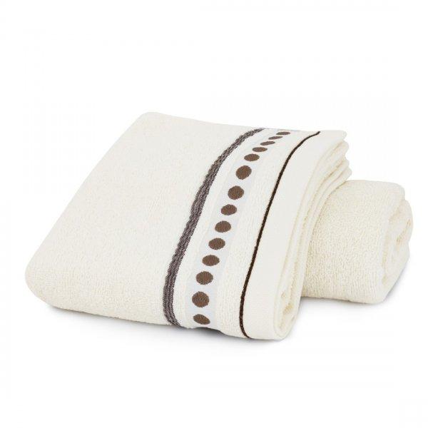Ręcznik frotte Zwoltex TRIO 70x140 320-02 ecru