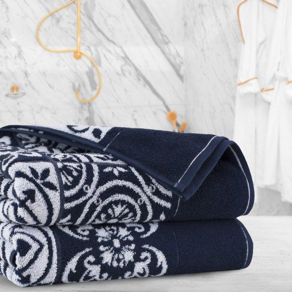 Ręcznik frotte Zwoltex ENRICA 50x100 326-69 granatowy