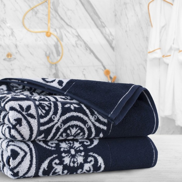 Ręcznik frotte Zwoltex ENRICA 70x140 326-69 granatowy