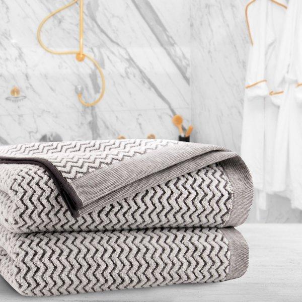 Ręcznik frotte Zwoltex REWA 70x140 327-02 ecru