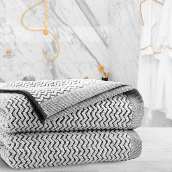 Ręcznik frotte Zwoltex REWA 70x140 327-31 szary