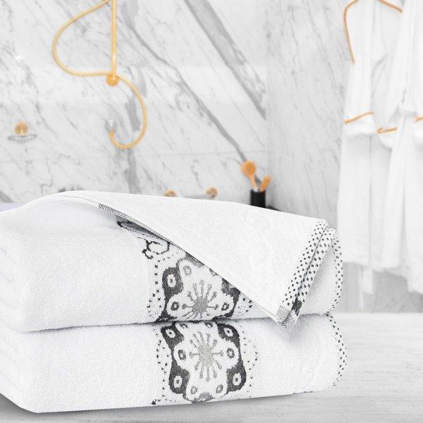 Ręcznik frotte Zwoltex VICTORIA 70x140 325-01 biały