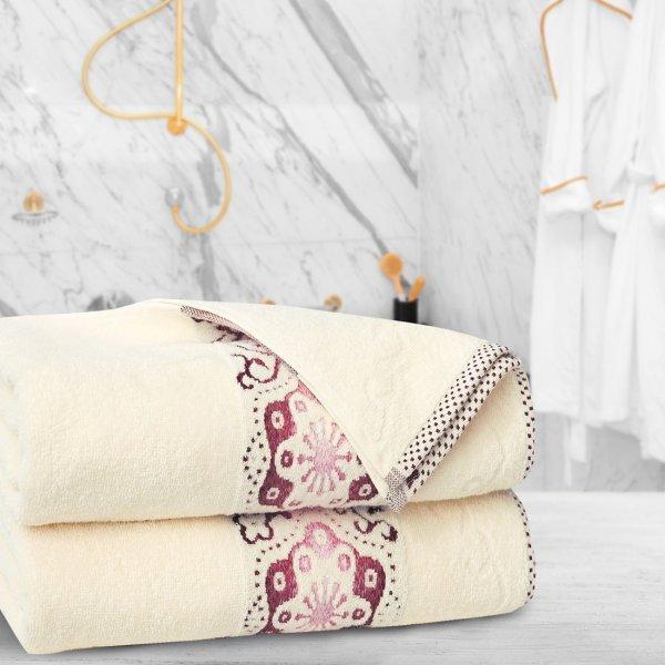 Ręcznik frotte Zwoltex VICTORIA 70x140 325-02 ecru