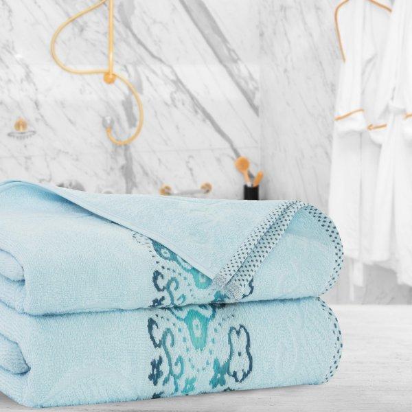 Ręcznik frotte Zwoltex VICTORIA 70x140 325-14 błekit