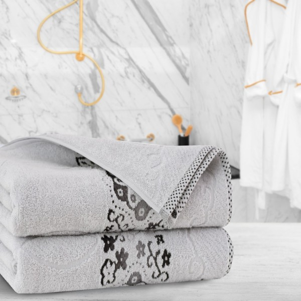 Ręcznik frotte Zwoltex VICTORIA 70x140 325-31 szary