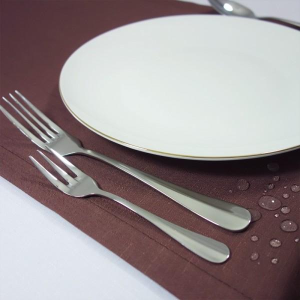 Falbana do stołów skirting gładki terakota