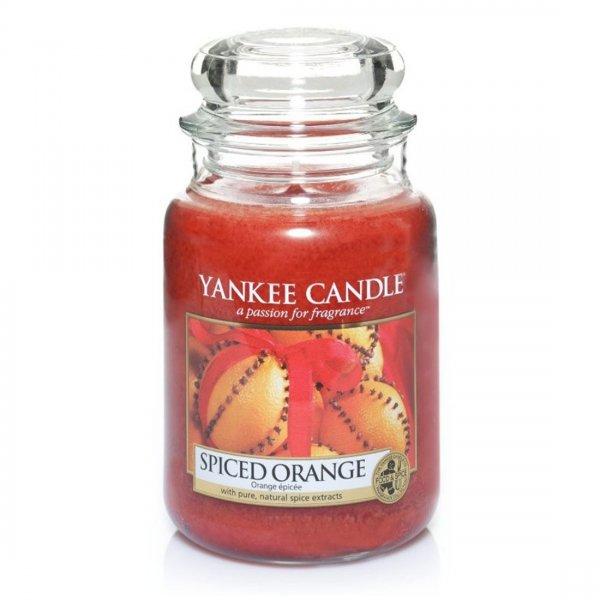 Świeca zapachowa Yankee Candle SPICED ORANGE duży słoik