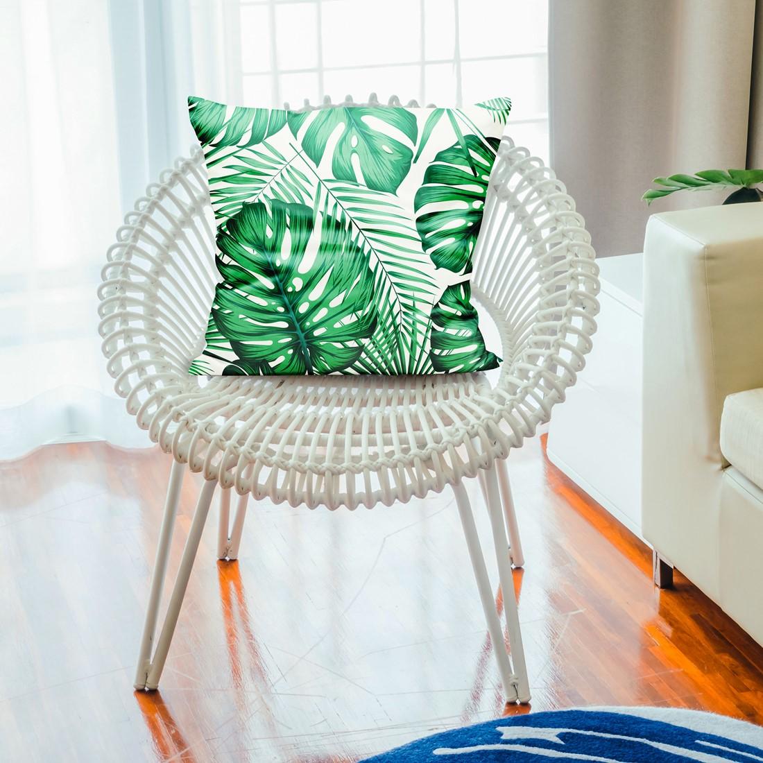 Dekoracyjna poduszka z liściem